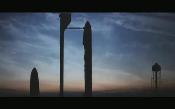 The CAD model of SpaceX's methane-propelled martian rocket