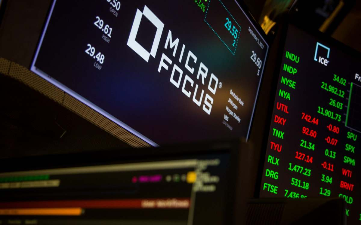 Shares in Micro Focus have surged
