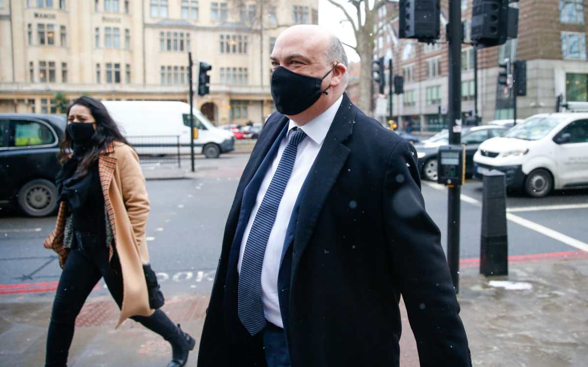 Mike Lynch, former chief executive officer of Autonomy Corp., arrives for his extradition hearing at Westminster Magistrates Court in London, U.K., on Tuesday, Feb. 9, 2021