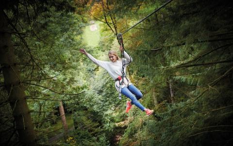 Parents and children are welcome to swing through the trees at one of Go Ape's 31 UK locations