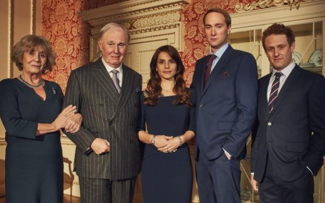 Margot Leicester, Tim Pigott-Smith, Charlotte Riley, Oliver Chris and Richard Goulding in King Charles III