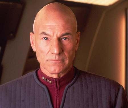 Patrick Stewart as Jean-Luc Picard in Star Trek: Insurrection