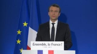 French president-elect Emmanuel Macron's first TV address