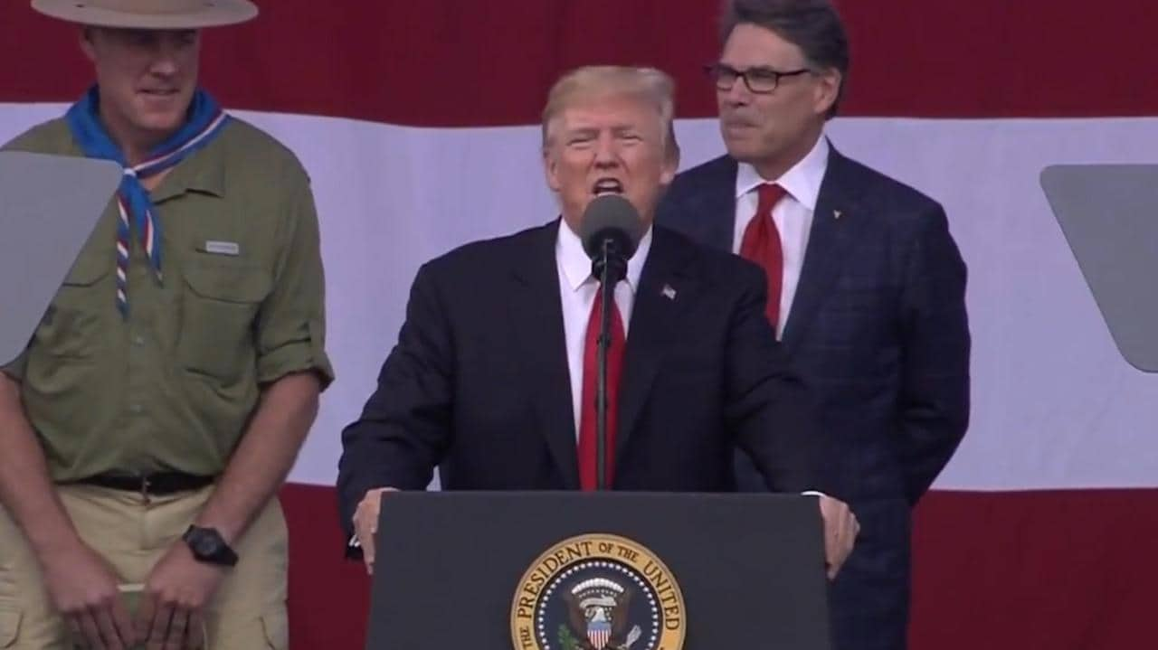 Donald Trump Under Fire For Political Speech At Boy Scouts