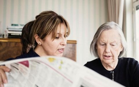 Women reading the newspaper