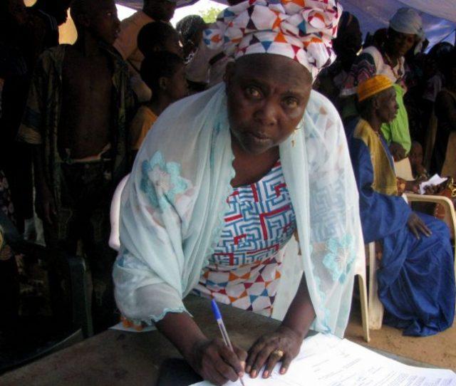 Activist Madina Bocoum Daff At An Anti Fgm Drive In Gabon