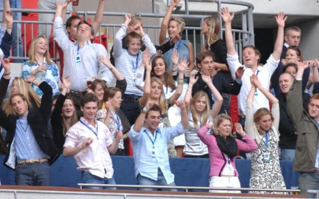 Lady Kitty con il Duca e la Duchessa di Cambridge al concerto per Diana allo stadio di Wembley nel 2007