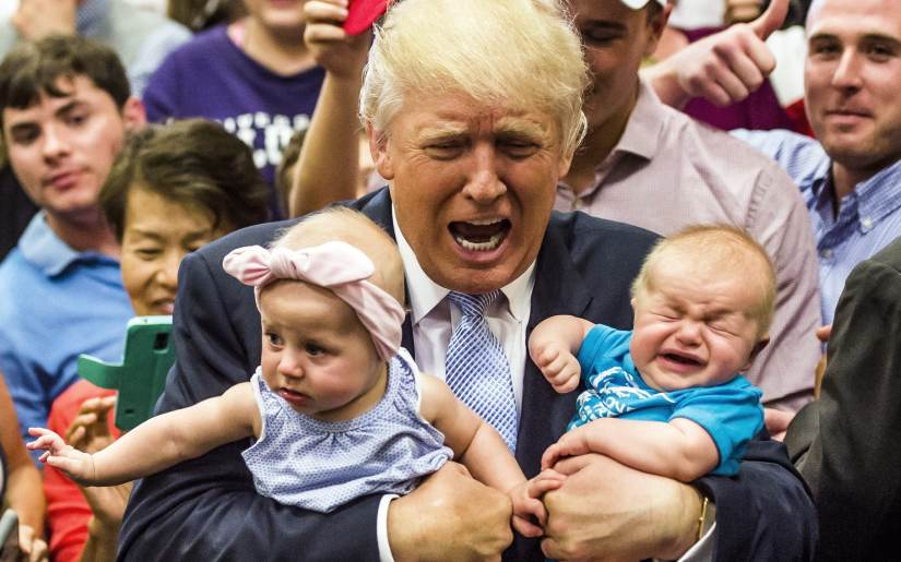 Image result for donald trump as a child