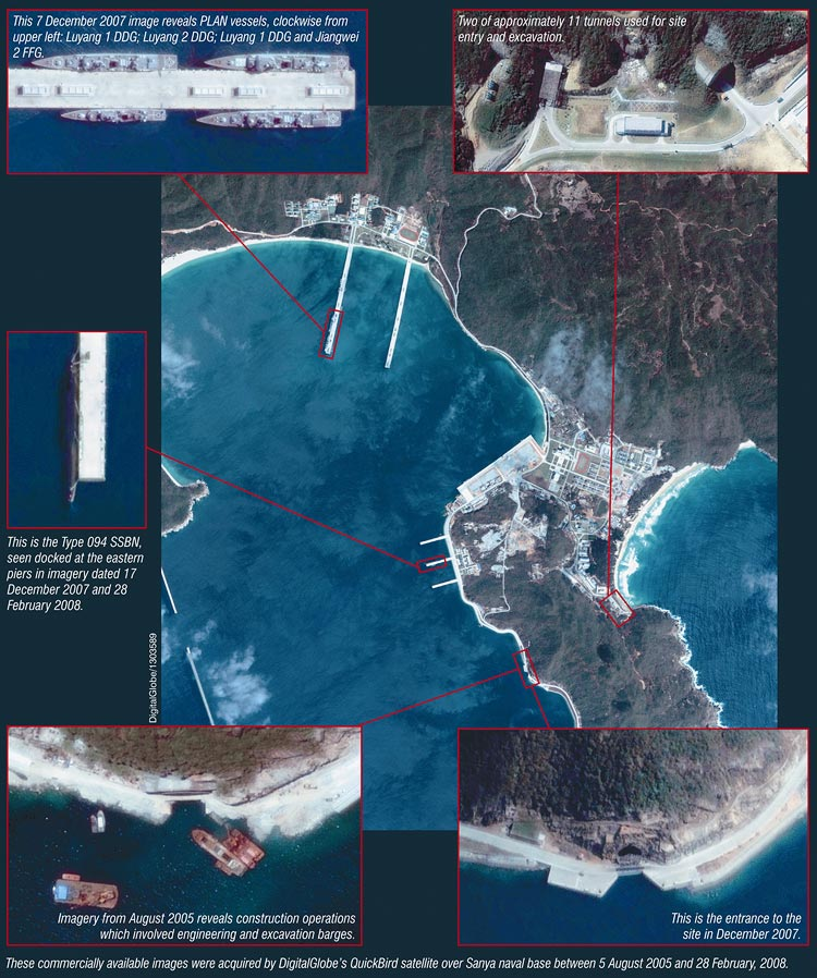 china's submarine base