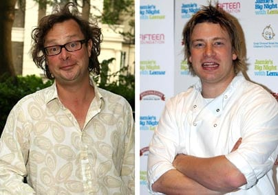 Hugh Fearnley-Whittingstall and Jamie Oliver