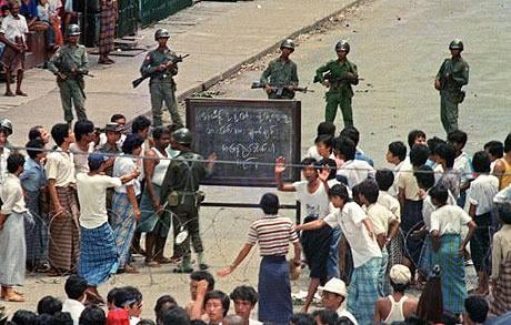 The 1988 demonstrations in Myanmar