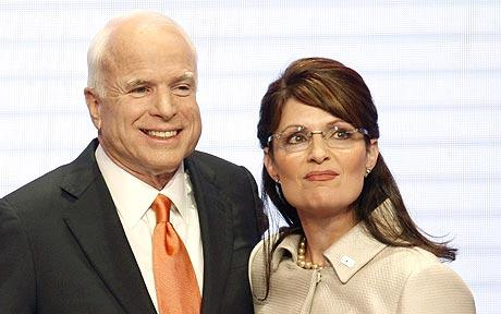 Sarah Palin, pictured with John McCain, is 'the new Thatcher and Reagan'