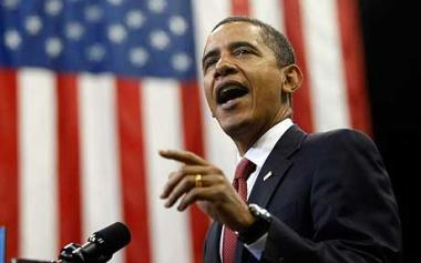 Barack Obama has declared he is 'feeling good' as polling day closes in