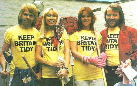 1976 anti-litter poster, featuring Swedish super-group ABBA, has been unearthed by Keep Britain Tidy.
