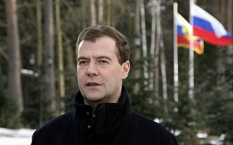 Russian President Dmitry Medvedev: Russian president orders military rearmament