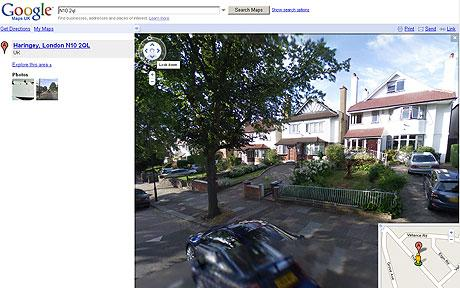 Screen grab from Goole Street View: Google Street View: Privacy campaigners promise legal challenge