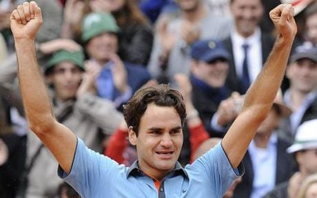 Roger Federer. Image from http://www.telegraph.co.uk/sport/tennis/rogerfederer/5469630/French-Open-2009-Roger-Federer-greatest-player-in-history-says-Robin-Soderling.html