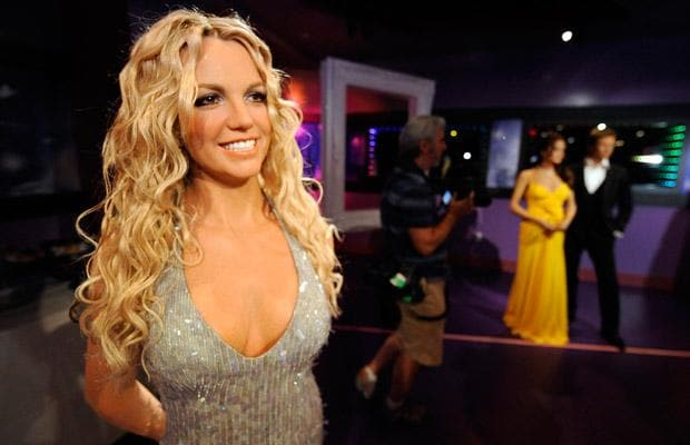 A waxwork of singer Britney Spears is seen at the opening of Madame Tussauds Hollywood in Los Angeles