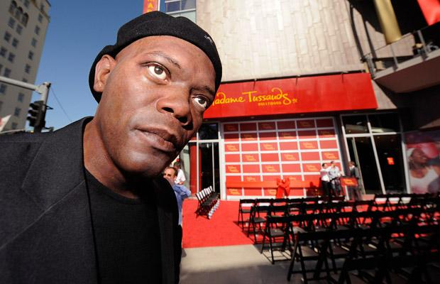 A waxwork of actor Samuel L. Jackson is seen at the opening of Madame Tussauds Hollywood in Los Angeles