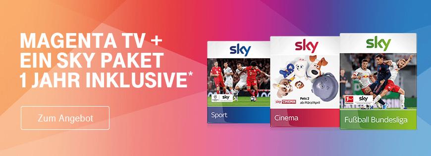 Sky Wunschpaket 1 Jahr inklusive - Jetzt MagentaTV vermitteln