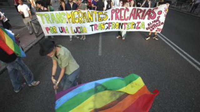 Protesta por la agresión a la activista transexual Vicky