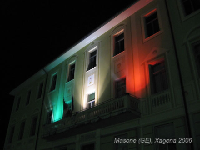 Comune di Masone - Vista di notte - Foto di Xagena