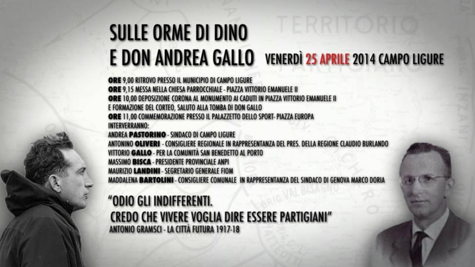 Sulle orme di Dino e Don Andrea Gallo