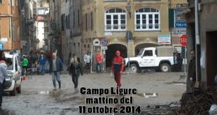 I danni dell'alluvione a Campo Ligure