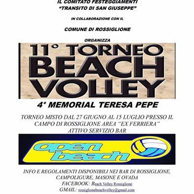 Torneo di beach volley a Rossiglione