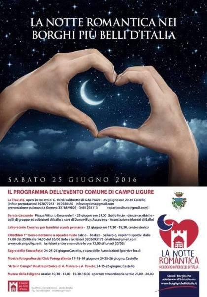 Notte romantica a Campo Ligure
