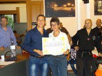 L'assessore premia la presidente Peronace