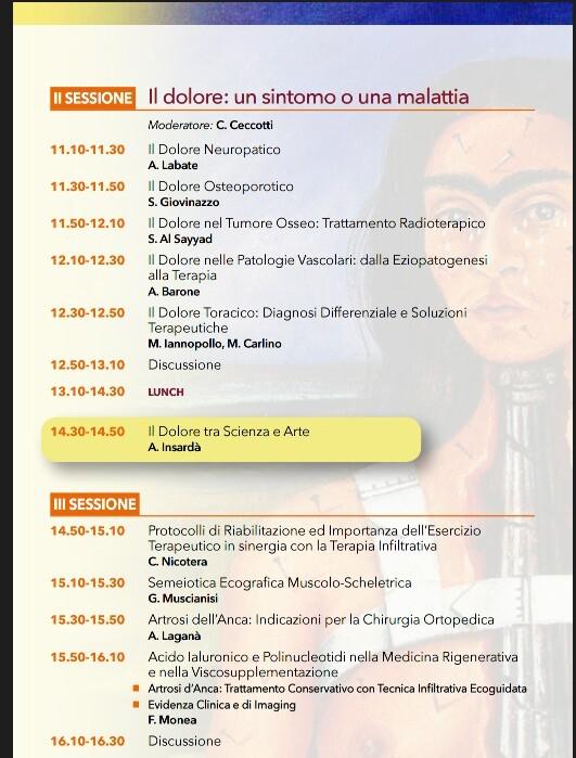 III SIMPOSIO REGIONALE MEDICINA DEL DOLORE. PROGRAMMA1