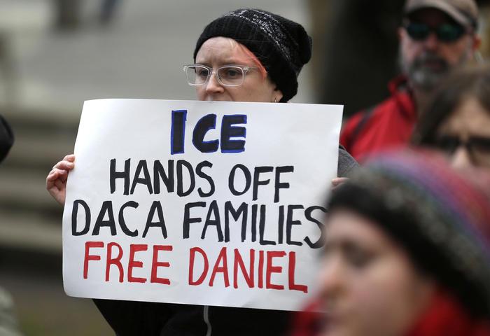 Protesta en febrero en Seattle contra la detención del 'soñador' Daniel Ramírez.