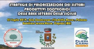 """Capizzi, il 23 luglio convegno """"Strategie di valorizzazione dei sistemi produttivi zootecnici delle aree interne della Sicilia"""""""