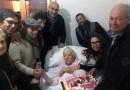 Gangi, sindaco e assessori festeggiano i cento anni della signora Domenica Barberi