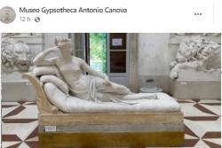 Danneggia statua Canova per una foto, identificato turista austriaco