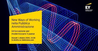EY, digital walk 'Le new ways of working nella Pubblica amministrazione'