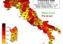 Coronavirus. In Italia il 2 dicembre nelle ultime 24 ore i nuovi contagi sono 20.709, i decessi sono 684