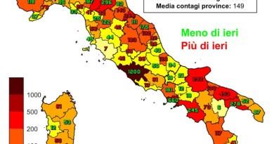 Coronavirus. In Italia il 15 gennaio nelle ultime 24 ore i nuovi contagi sono 16.146, i decessi sono 477