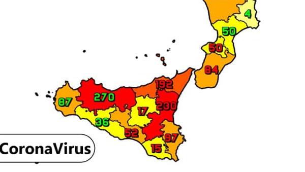 Coronavirus. In Sicilia il 27 gennaio nelle ultime 24 ore i nuovi contagi sono 996, i decessi sono 38