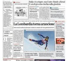 Quotidiani Nazionali      Prime pagine di oggi | Sabato 23 Gennaio 2021