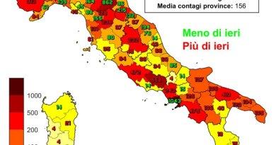 Coronavirus. In Italia il 2 marzo nelle ultime 24 ore i nuovi contagi sono 17.083, i decessi sono 343