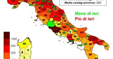 Coronavirus. In Italia il 4 marzo nelle ultime 24 ore i nuovi contagi sono 22.865, i decessi sono 339