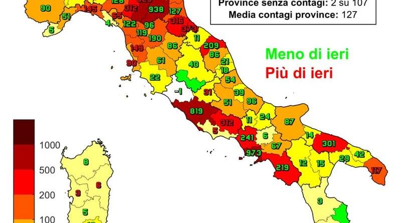 Coronavirus. In Italia l'8 marzo nelle ultime 24 ore i nuovi contagi sono 13.902, i decessi sono 318
