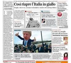 Prime pagine dei giornali di oggi         Sabato  8 Maggio 2021 | Rassegna Stampa Quotidiani