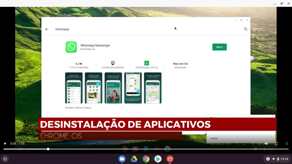 Remoção de Aplicativos no ChromeOs