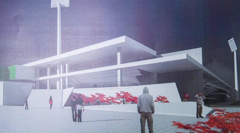 Az új stadion látványterve. Forrás: Paksi Polgármesteri Hivatal