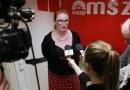 Heringes Anita az MSZP-Párbeszéd országgyűlési képviselőjelöltje. Fotó: Molnár Gyula/Paksi Hírnök