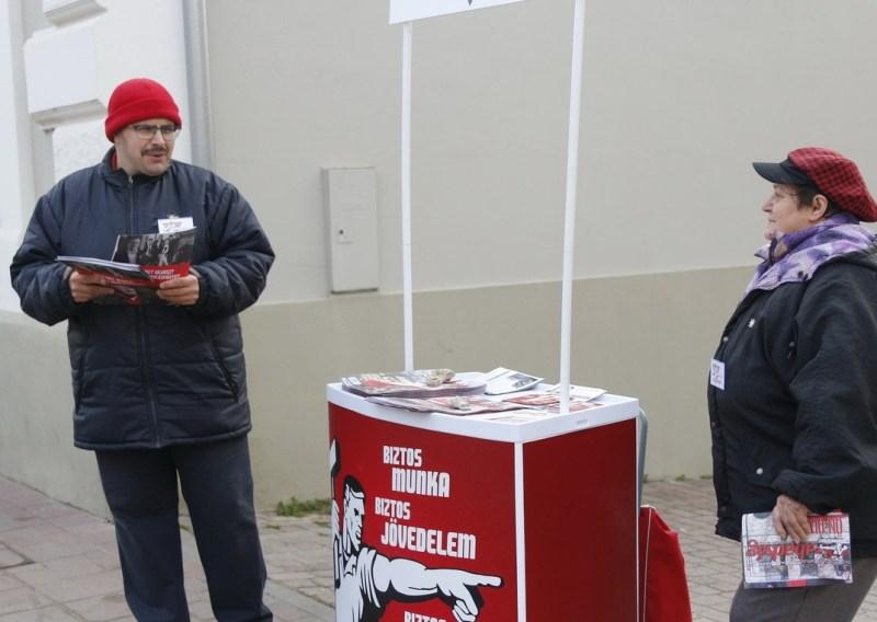 Szarka Sándor, a Munkáspárt országgyűlési képviselőjelöltje. Fotó: Molnár Gyula/Paksi Hírnök