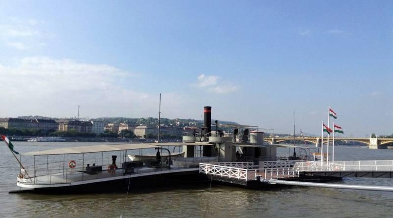 A Lajta monitor múzeumhajó. Fotó: HM Hadtörténeti Intézet és Múzeum Facebook-oldal